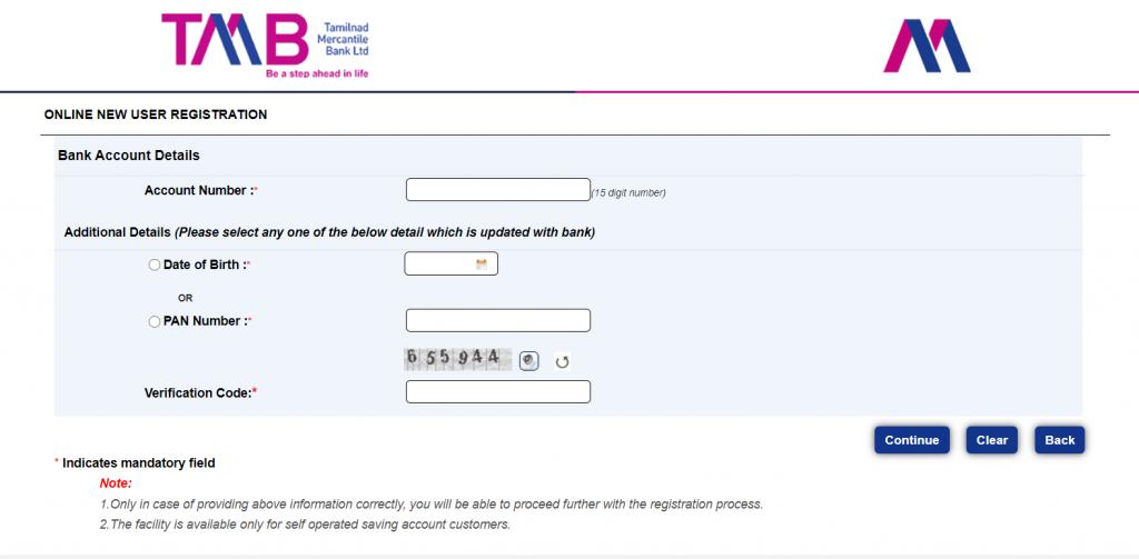 register TMB Net Banking