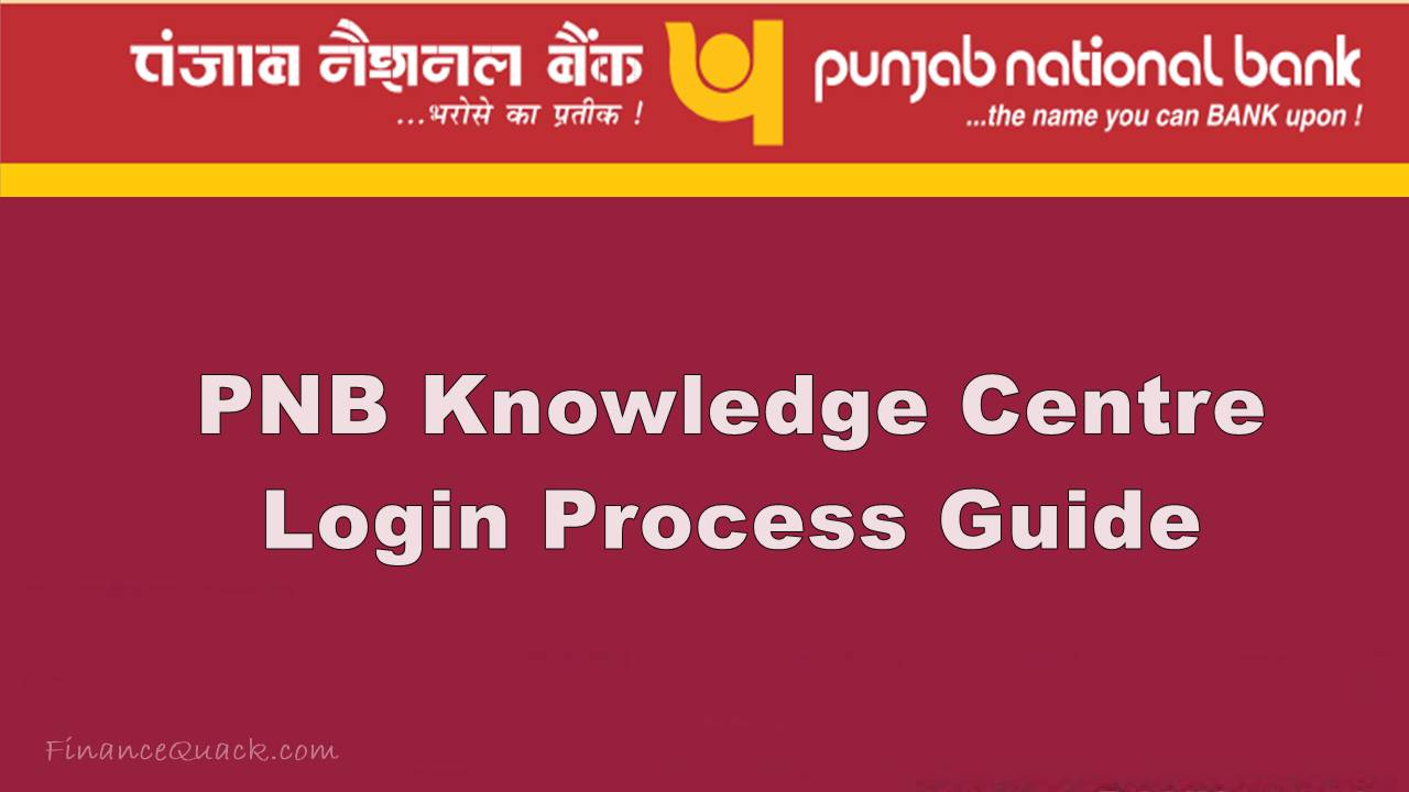 pnb knowledge centre login guide