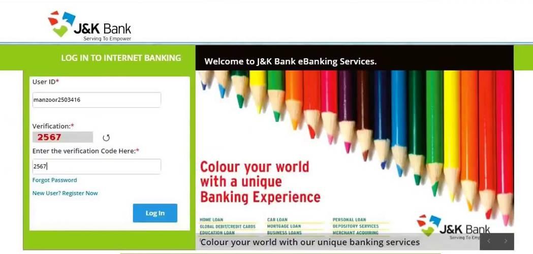 jk bank net banking