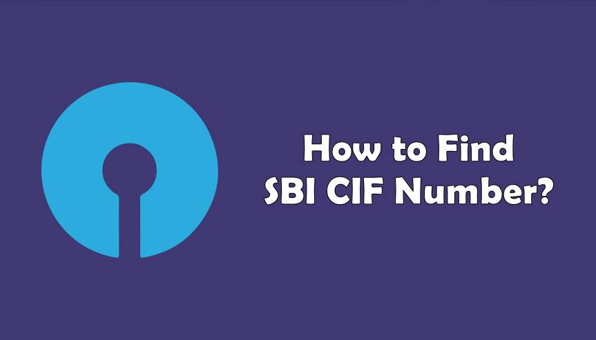 how to find sbi cif number